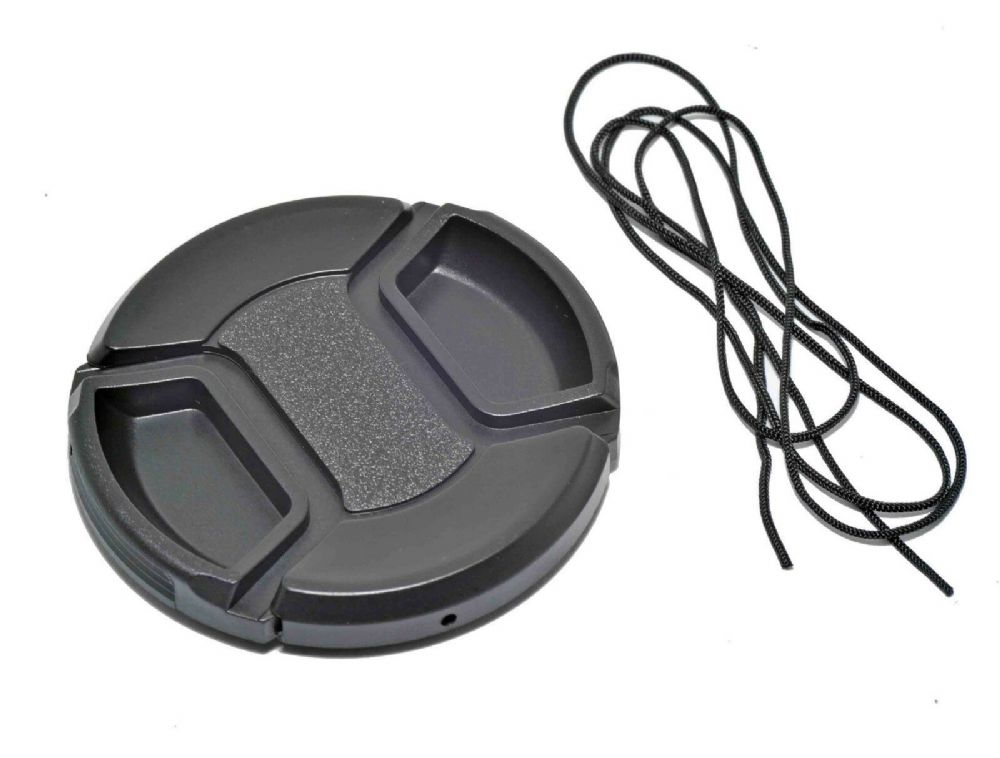 Kood Centre Grip Front Lens Cap 58mm & Keep Cord